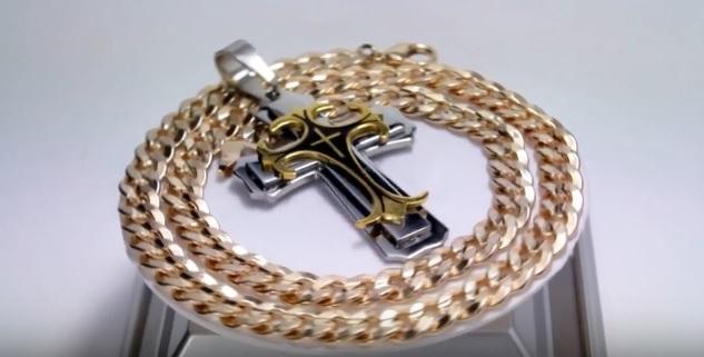 крест с цепью Steel Rage