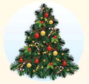Новогодняя искусственная елка