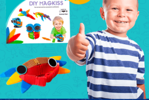 Детский магнитный конструктор DIY MAGKISS