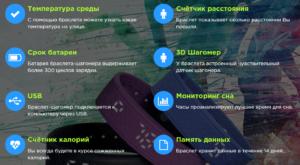 Функции браслета шагомера SmartBand H5S