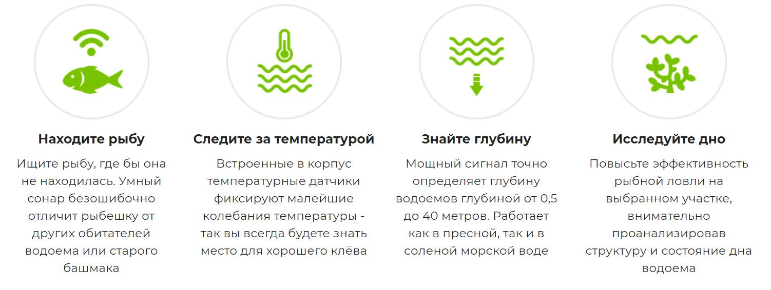 способности эхолота Deeper Smart Fishfinder 3.0