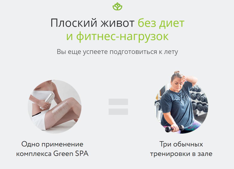 Плоский живот с комплексом для домашнего обертывания GREENSPA