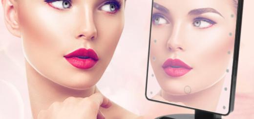 Настольное зеркало с подсветкой для макияжа