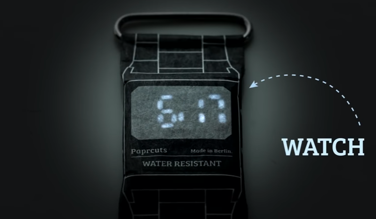 Бумажные часы Fun Paper Watch